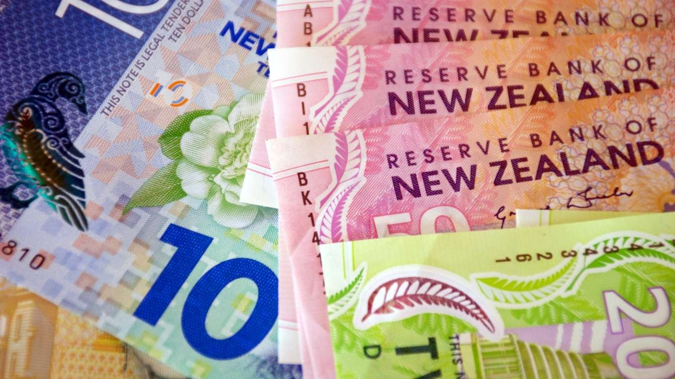 New Zealand bank notes of different denominations